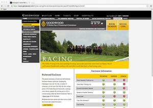 Goodwood Racing Website